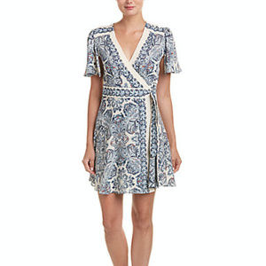 BCBG Kylie Paisley-Print Wrap Dress